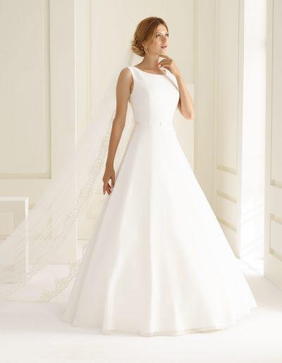 robe de mariée trapèze en chiffon