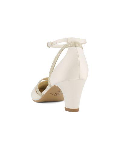 chaussures de mariée en satin ivoire